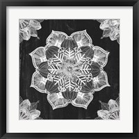 Mandala Morning V BW Framed Print