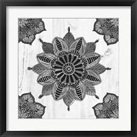Mandala Morning VI BW Framed Print
