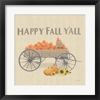 Framed Heartland Harvest Moments IV Happy Fall