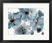Framed Blue Poppy Bouquet