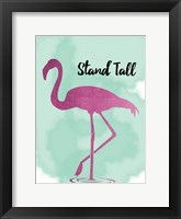 Framed Stand Tall Hot Flamingo