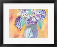 Framed Gardenia and Hydrangea