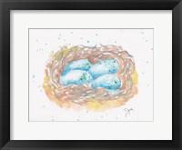 Framed Aqua Eggs
