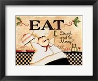 Framed Eat Drink Be Merry