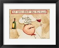 Framed Drink More Wine