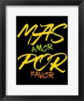 Framed Mas Amor