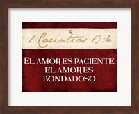 Framed Corintios El Amor
