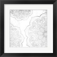 Framed Silver Mandala