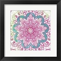 Framed Flower Mandala Pop