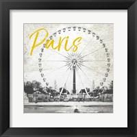 Framed Roue De Paris Yellow