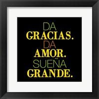 Framed Gracias Amor
