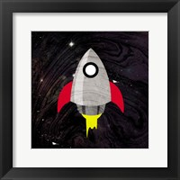 Spaceship Adventure Framed Print