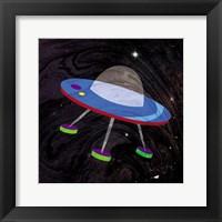 Spaceship Adventure Four Framed Print