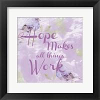 Framed Lavender Faith 1