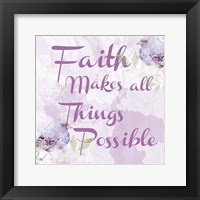 Framed Lavender Faith 2