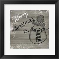 Framed Christmas Black And White
