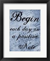 Framed Positive Note