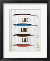 Framed Live Laugh Lake