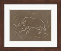 Framed Bull 2