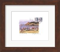 Framed Tuscany Beach