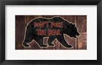 Framed Don't Poke The Bear