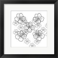 Framed Black Petals