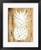 Framed Wood Pineapple