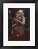 Framed Breton Brother and Sister