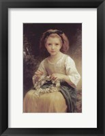 Framed Child Braiding a Crown