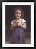 Framed Little Girl Holding Apples in Her Hands