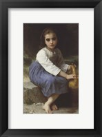 Framed Young Girl with a Pitcher; Jeune Fille a La Cruche, 1885