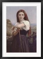Framed Young Shepherdess