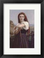 Framed Young Shepherdess