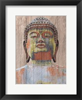 Framed Wooden Painted Buddha