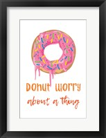 Framed Donut Worry