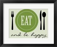 Framed Happy Eating