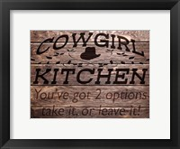 Framed Cowgirl Kitchen