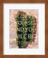 Framed Unstoppable Belief