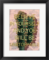 Framed Unstoppable Belief
