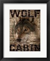 Framed Wolf Cabin 1