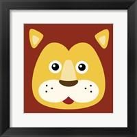 Framed Surprised Lion