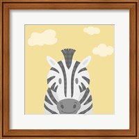 Framed Funky Zebra
