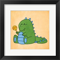 Framed Playful Dino