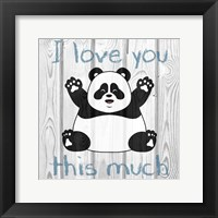 Framed Loving Panda 1
