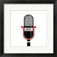 Framed Microphone Music