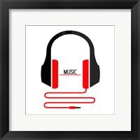 Framed Headphones Music