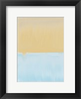 Framed Abstract Blue And Yellow