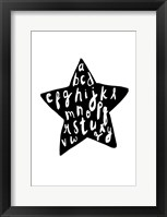Framed Alphabet star