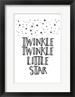 Framed Twinkle Twinkle Little Star