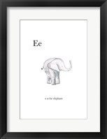 Framed Ee Is For Elephant